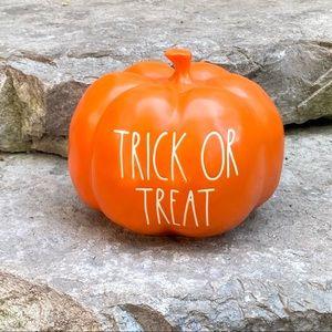 Rae Dunn TRICK OR TREAT Medium Pumpkin